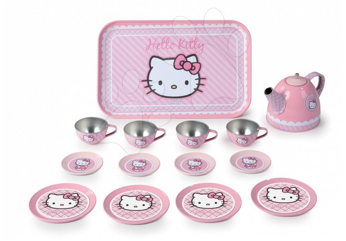 Hello Kitty plechový čajový set Smoby 14 ks veľký