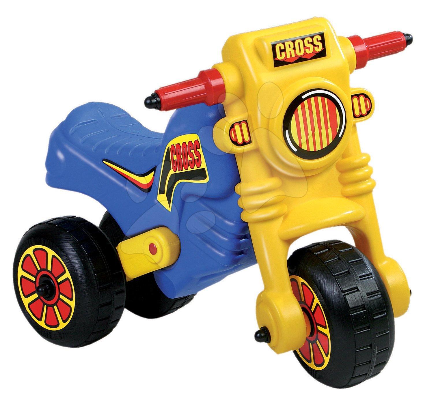 Motorky - Velké odrážedlo Cross Dohány modro-žluté