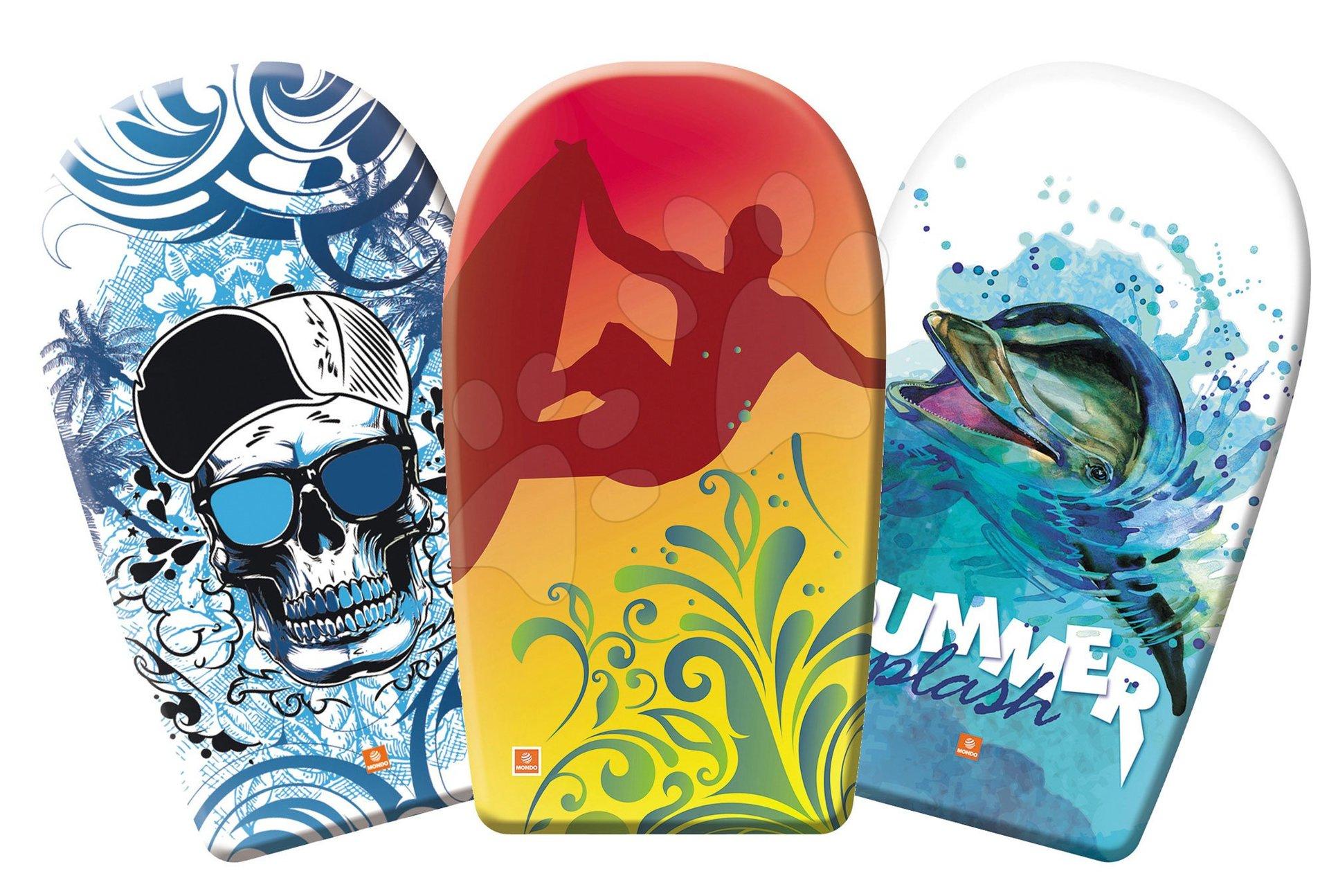 Deska iz pene za plavanje Summer Mondo dolžina 84 cm - delfin, deskar, kapa s šiltom
