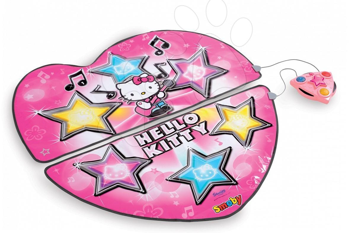 Staré položky - Koberec na tancování Hello Kitty Smoby dvoudílný se zvukem a světlem