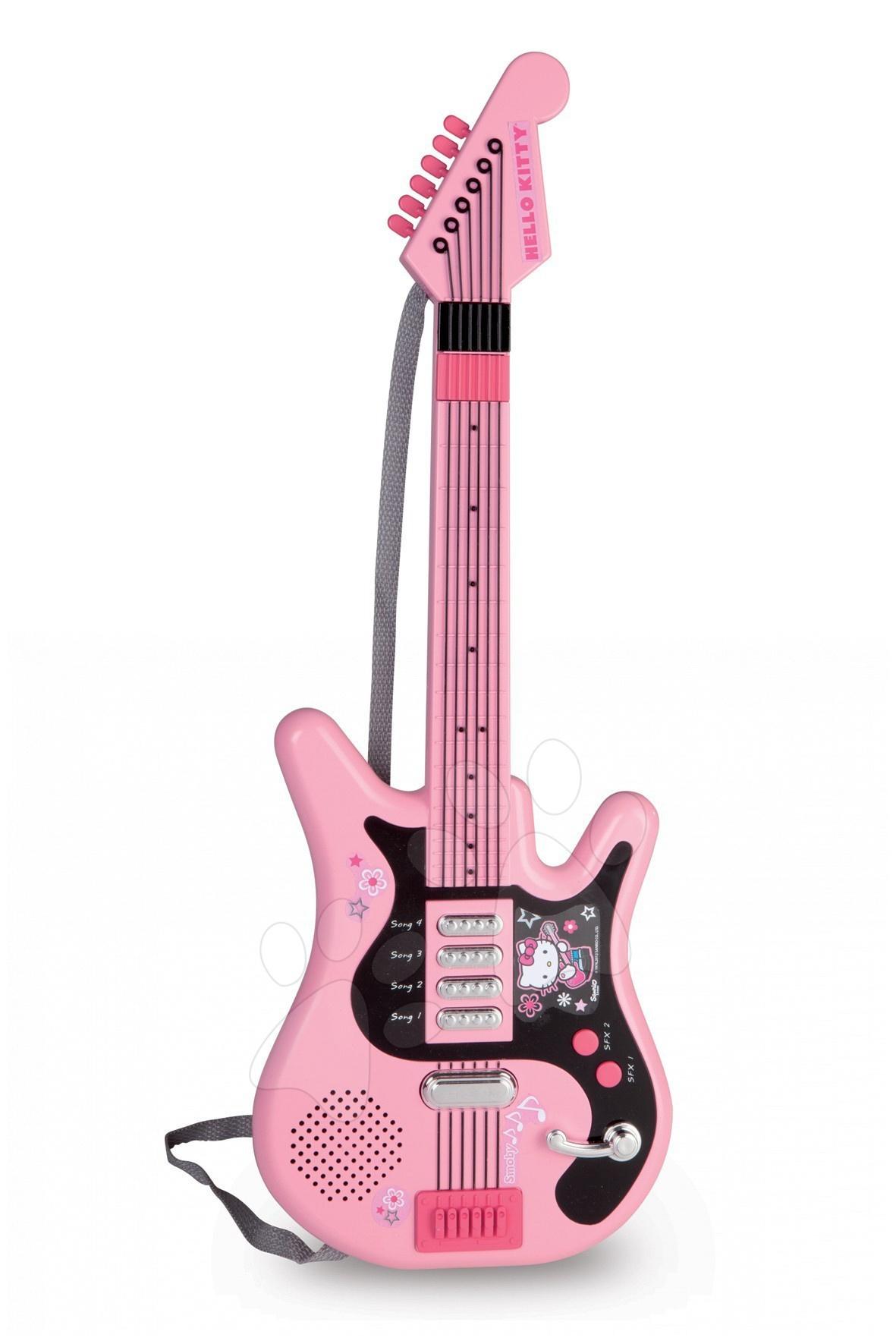 Kytara Hello Kitty Smoby elektronická růžovo-černá