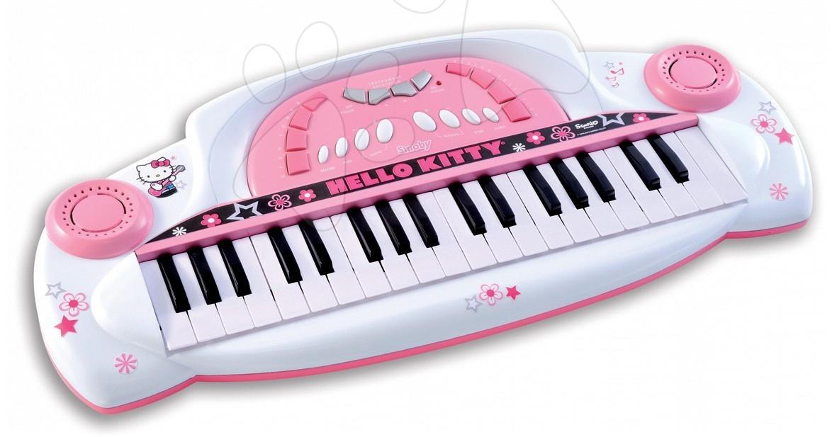 Svetloružové elektronické piano Hello Kitty Smoby