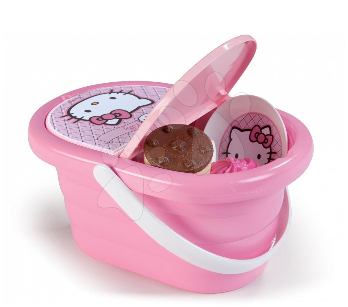 Piknikový košík Hello Kitty Smoby s 24 doplnkami svetloružový