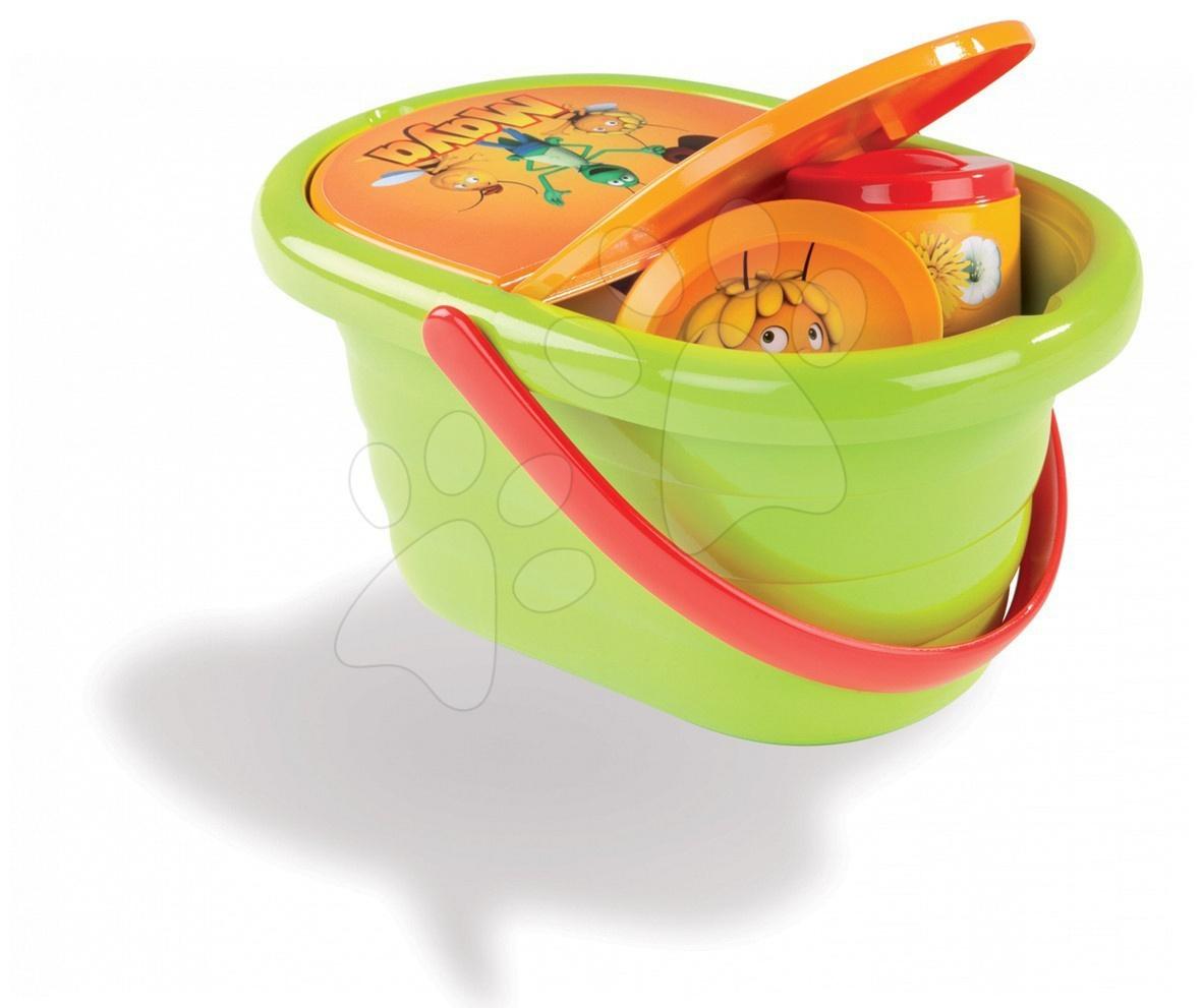 Staré položky - Včelka Mája piknik košík Smoby 24 doplňků
