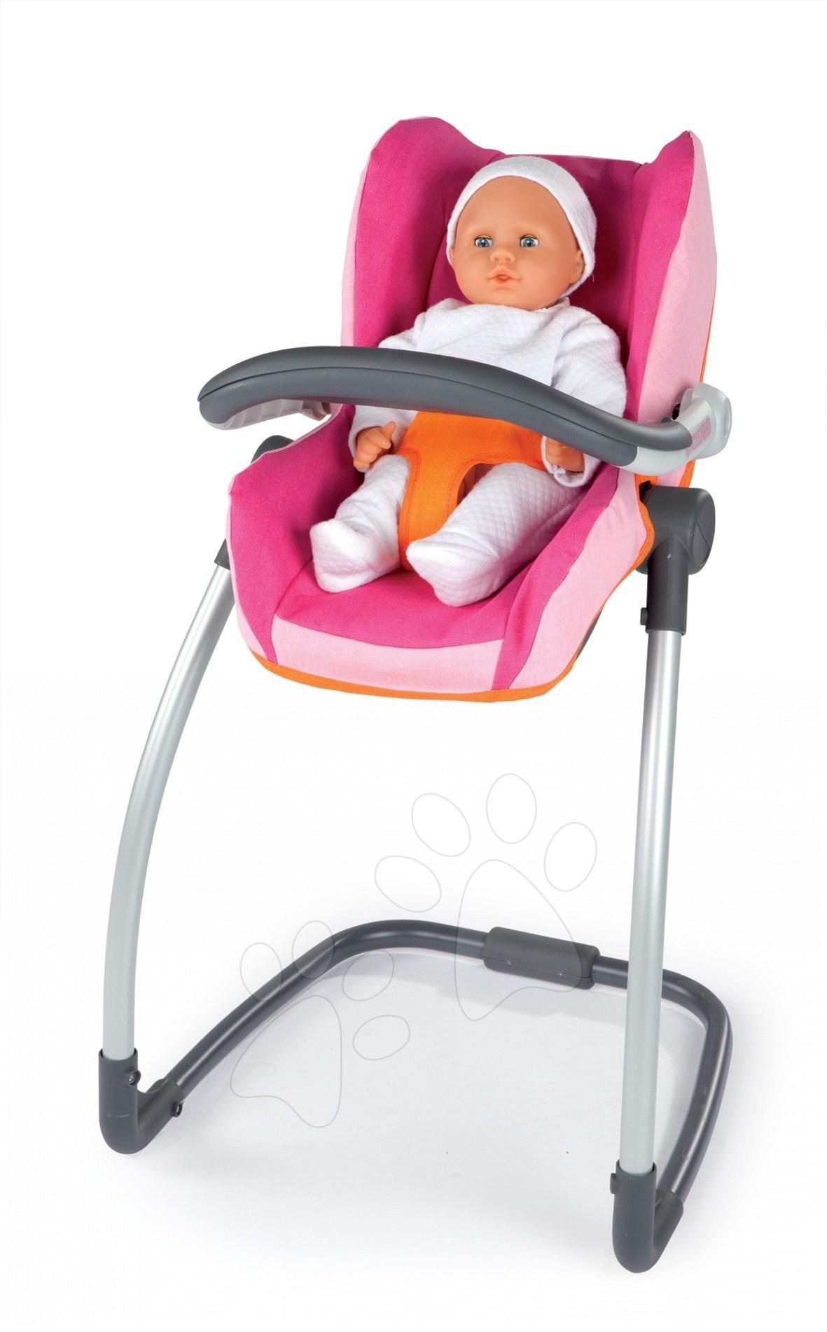 Etetőszék Maxi Cosi & Quinny Smoby autósülés és hinta 3in1 rózsaszín-narancssárga