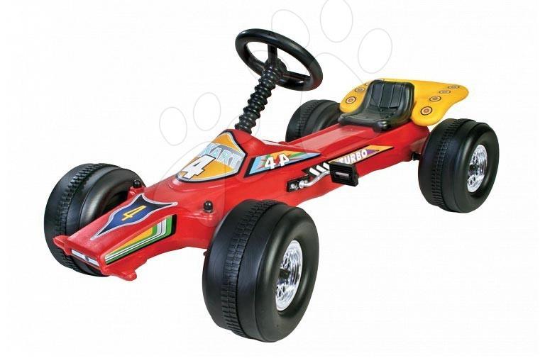 Dětská čtyřkolka na šlapání Go Kart Dohány auto červená