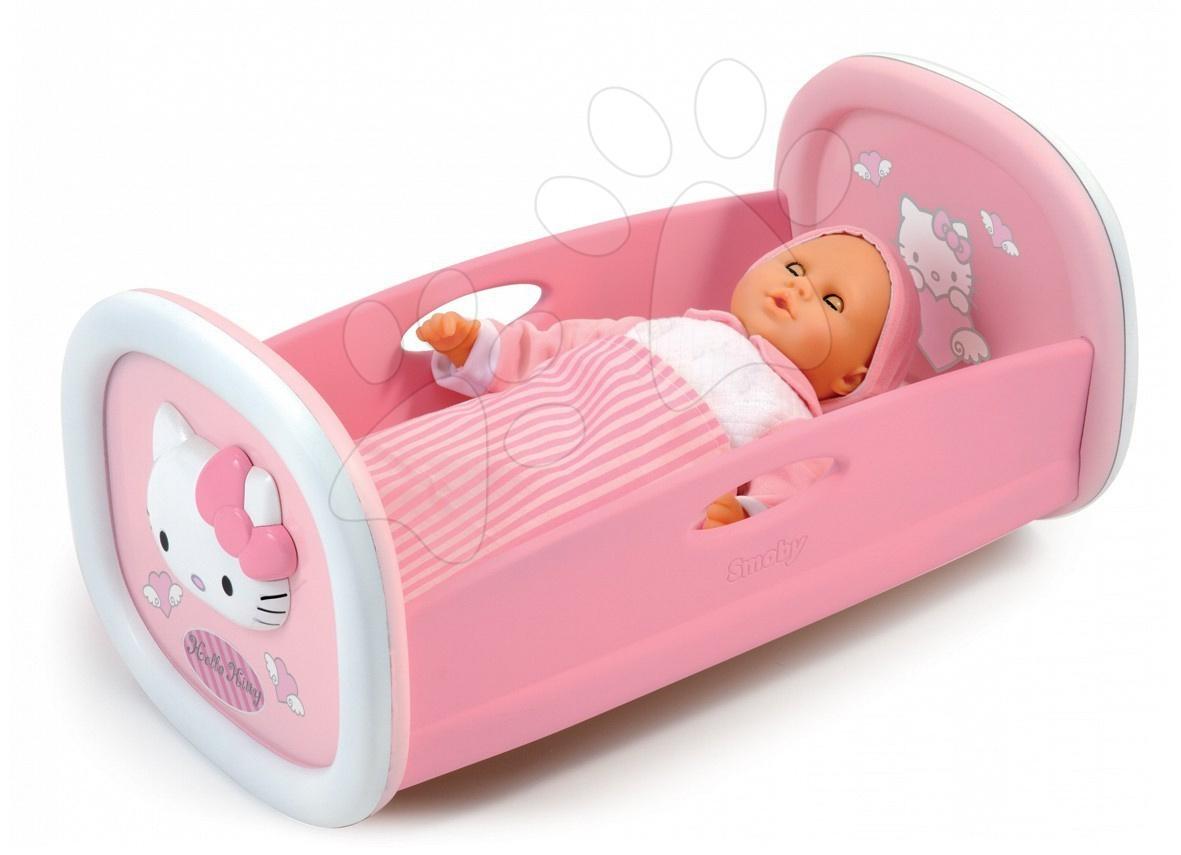 Staré položky - Kolébka Hello Kitty Smoby pro 42 cm panenku s peřinkou od 18 měsíců