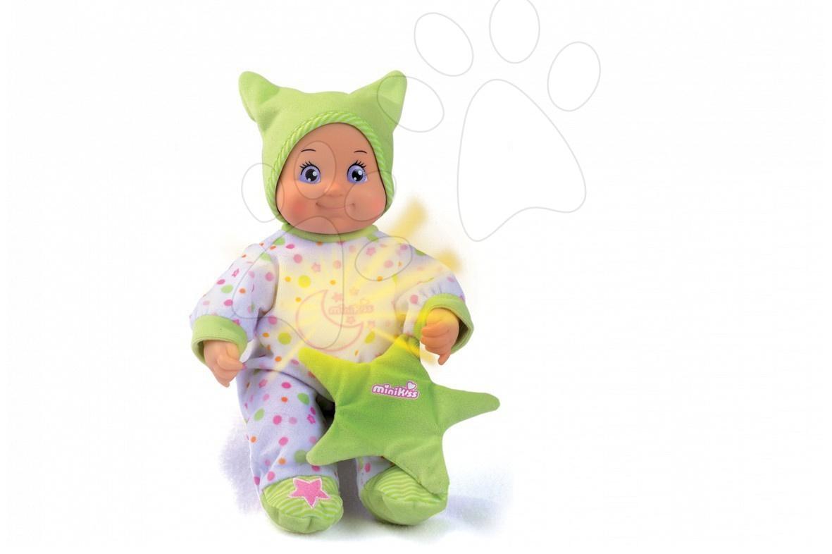 Minikiss panenka Dodo s hvězdou do postýlky Smoby se světlem a s melodií, 27 cm od 12 měsíců