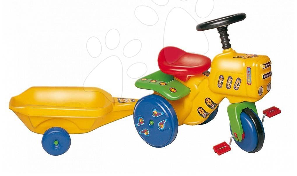 Dětská šlapací vozidla - Zahradní traktor Dohány žlutý