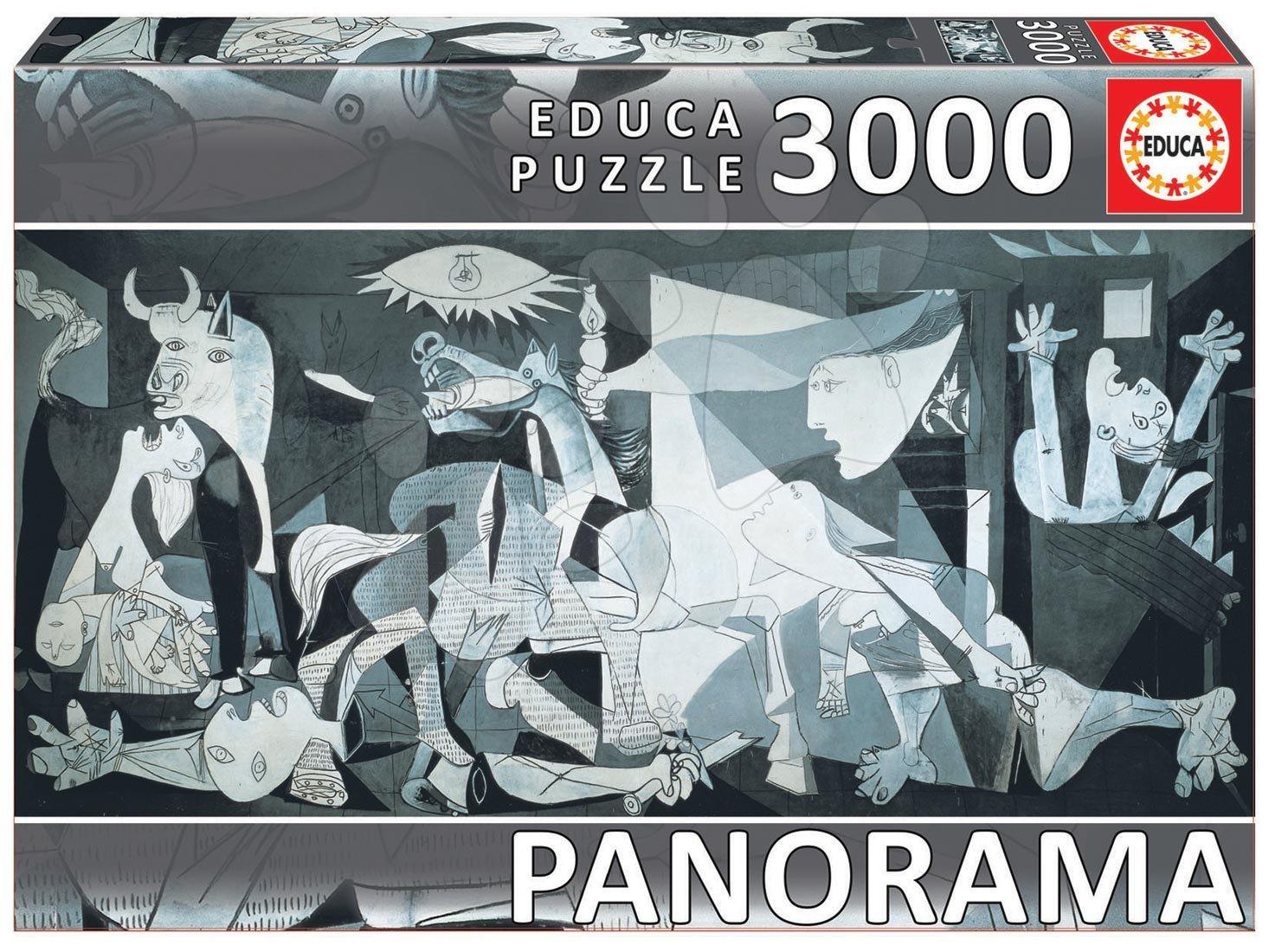 EDUCA 11502 PUZZLE 3000 dielov Panorama Guernica, Pablo Picasso + FIX PUZZLE LEPIDLO