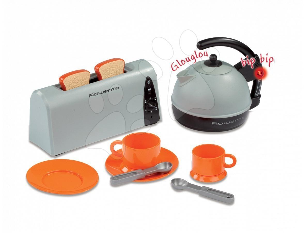 Snídaňový set Rowenta Smoby s elektrickým čajníkem, toasterem, se světlem a zvukem