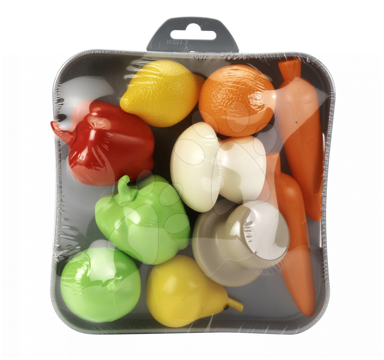 Riadíky a doplnky kuchynky - Tácka so zeleninou a ovocím Écoiffier 10 kusov od 18 mes