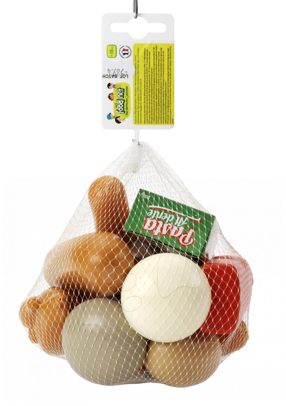 Riadíky a doplnky kuchynky - Potraviny na piknik Écoiffier s kečupom, párkami a rohlíkom 13 kusov od 18 mes