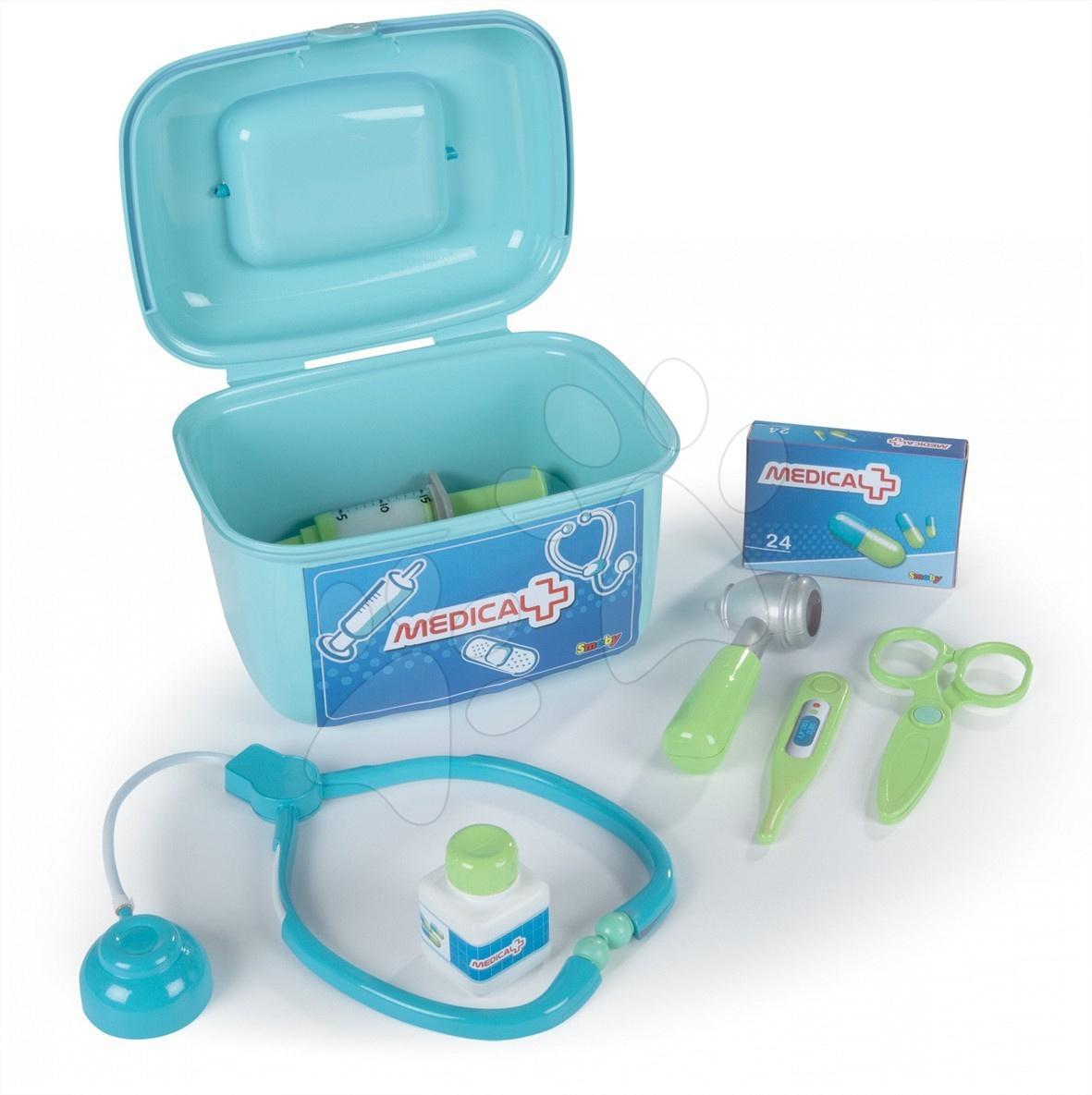 Trusă medicală Smoby pentru un medic mic cu 7 accesorii