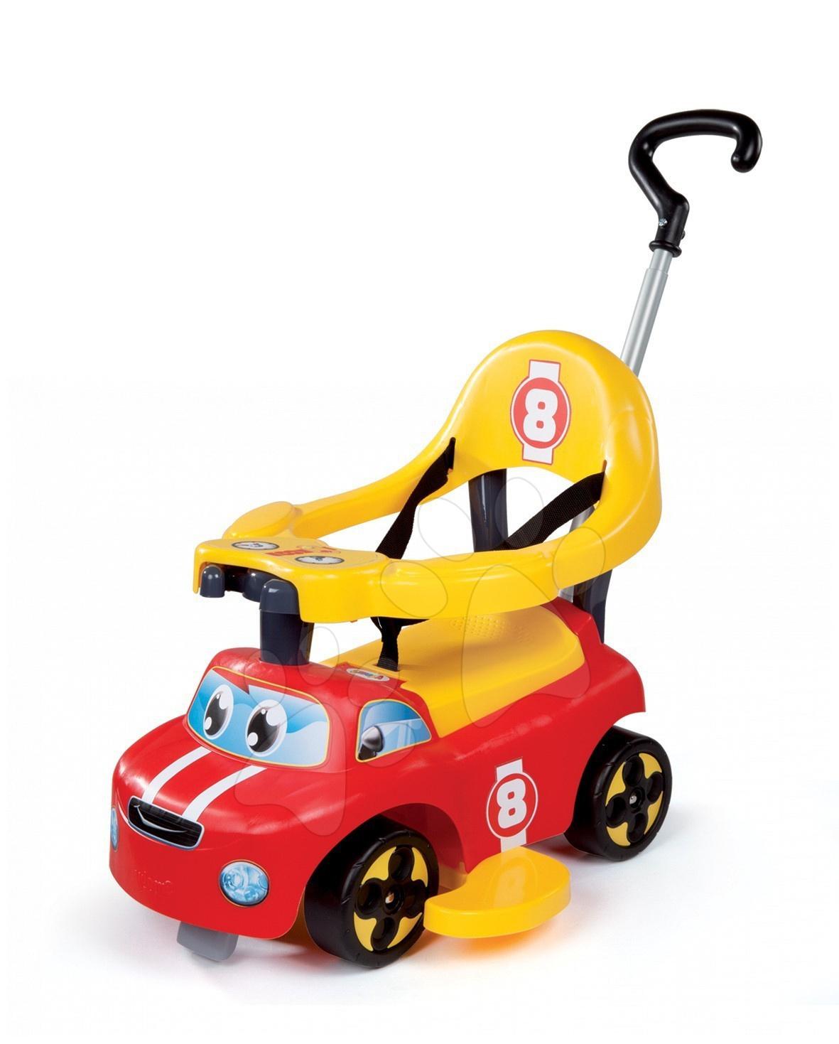 Bébitaxi és járássegítő Auto Balade Smoby piros-sárga 6 hó-tól