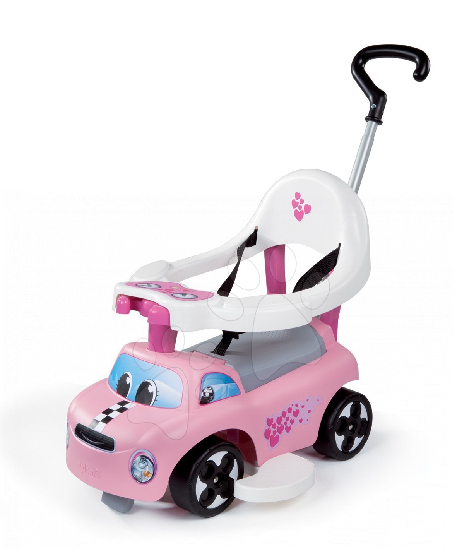 Babytaxiu și premergător Auto Balade Girl Smoby roz de la 6 luni
