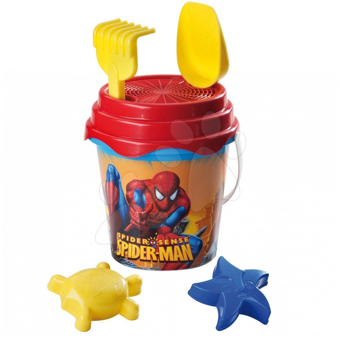 Vedierka do piesku - Vedro set Spiderman Mondo 6 dielov (výška 22 cm) od 18 mes