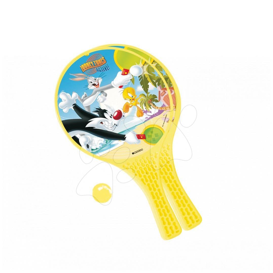 Tenis - Plážový tenis Looney Tunes Mondo s 2 raketami a loptičkou
