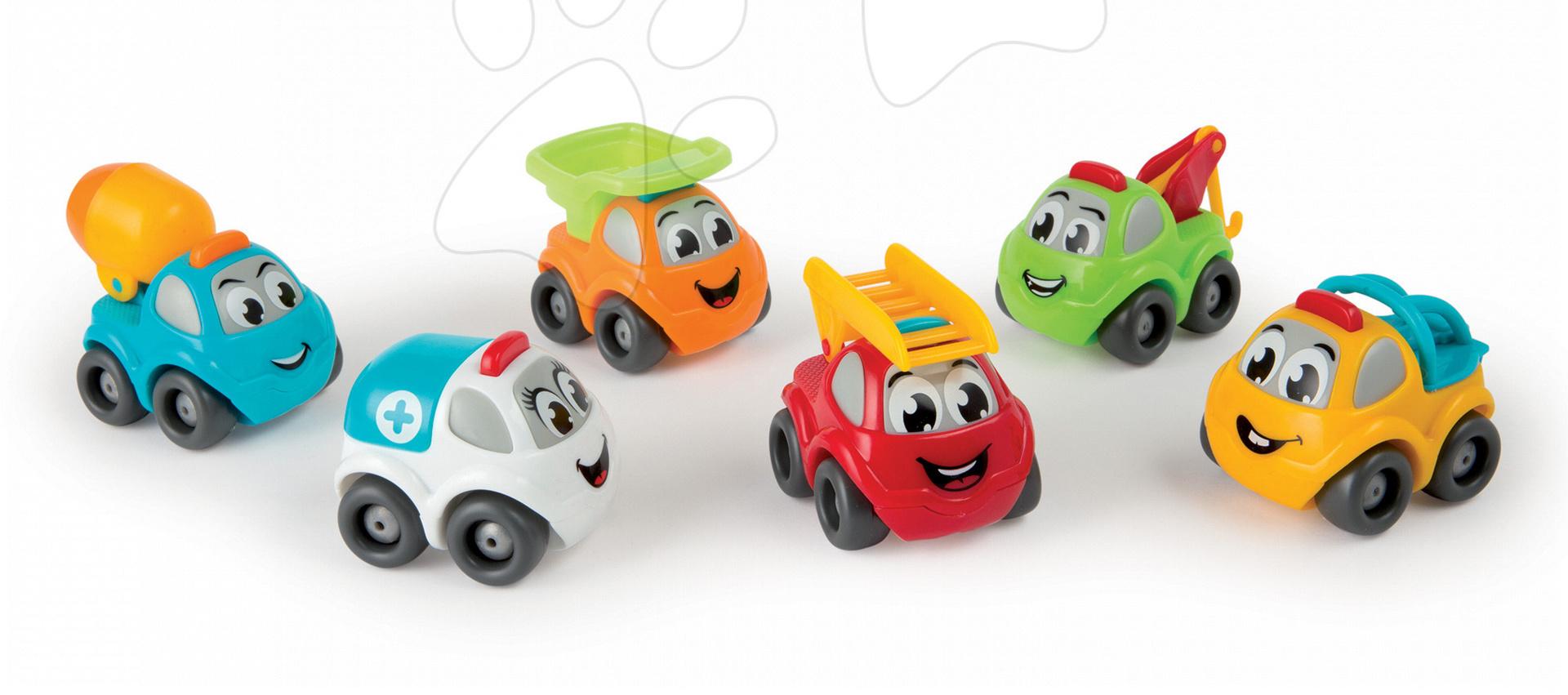 Autíčko Vroom Planet Smoby - hasiči, záchranka, míchačka, odťahovka, náklaďák, pracovní auto délka 7 cm od 12 měsíců