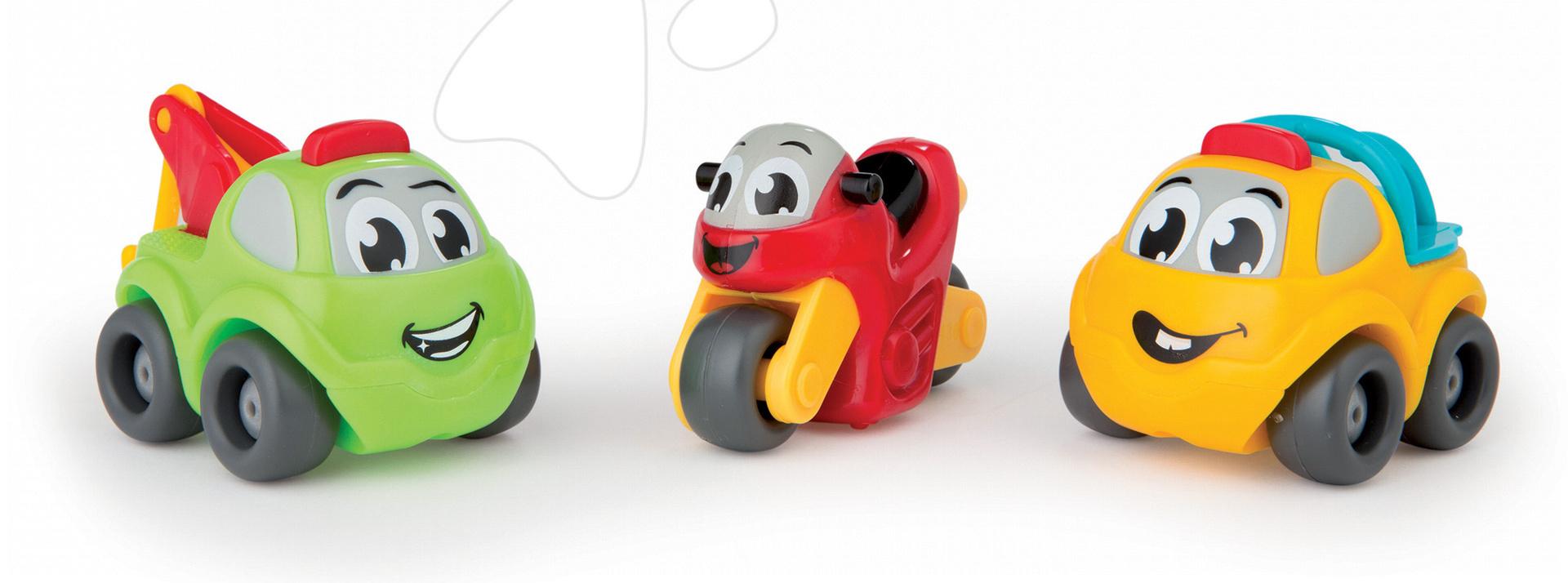 Garáže - Autíčka 2ks a motorka Vroom Planet Smoby dĺžka 7 cm od 12 mes