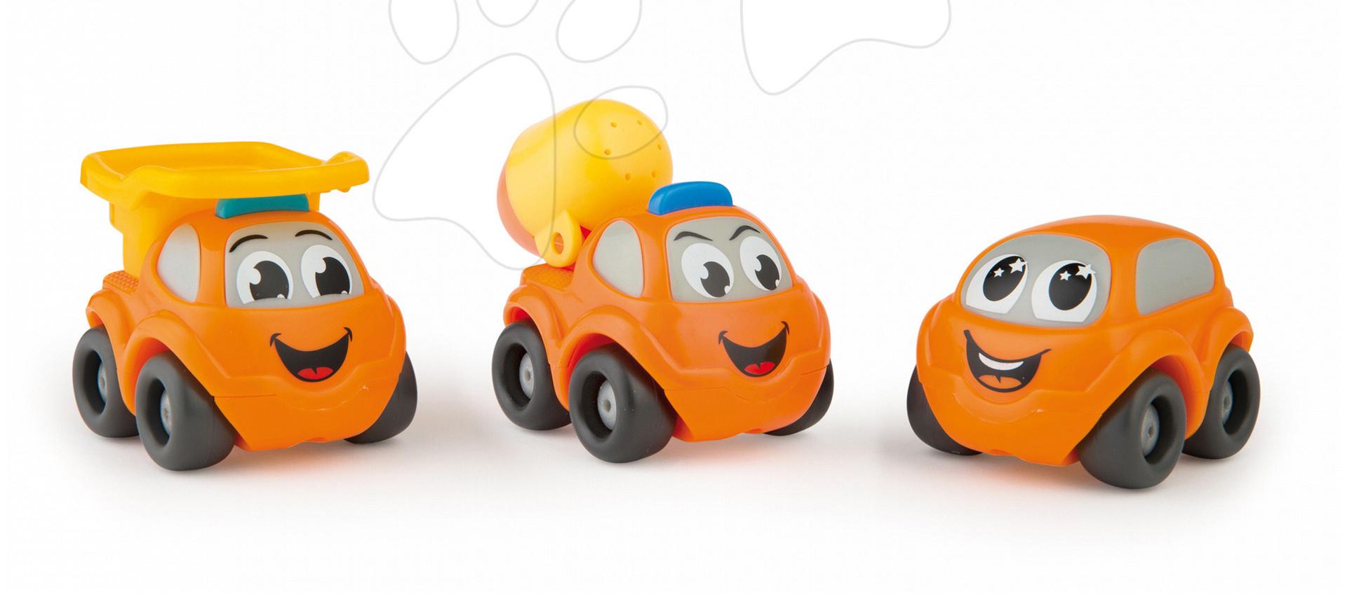 Vroom Planet autíčka 3 druhy Smoby stavbárske, záchranárske a osobné autíčko od 12 mes