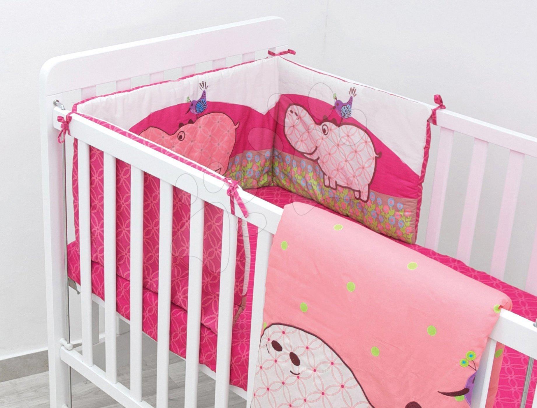 Gnezdo za posteljico Sateen Hippo toT's-smarTrike povodni konj 100 % bombaž saten polnilo iz 100 % poliestra rožnato