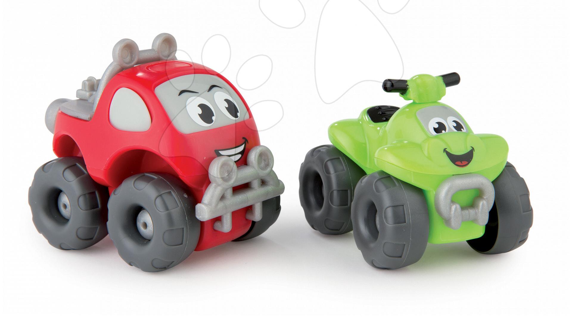 Autíčka - Terénne autíčko a štvorkolka Vroom Planet Smoby dĺžka 8 cm od 12 mes