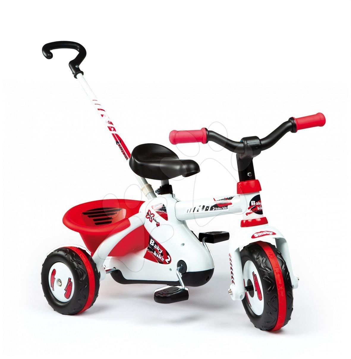 Tříkolka Sport Line Trike  Smoby červená s řetězovým pohonem a tyčí od 15 měsíců
