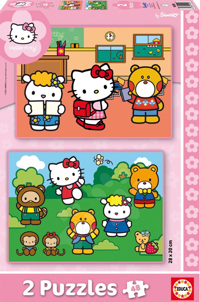 Gyerek puzzle 8 - 99 darabos - Puzzle Hello Kitty Educa 2x 48 db