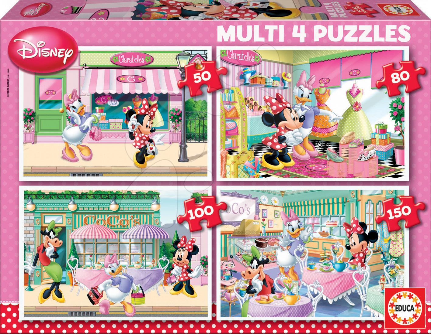 Puzzle Disney Minnie Mouse Educa 150-100-80-50 dielov od 5 rokov