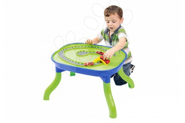 Vodne dráhy pre deti - Stôl na hranie Starplast multifunkčný s 2 loďkami, vodným mlynom, 2 mostami a zástavou