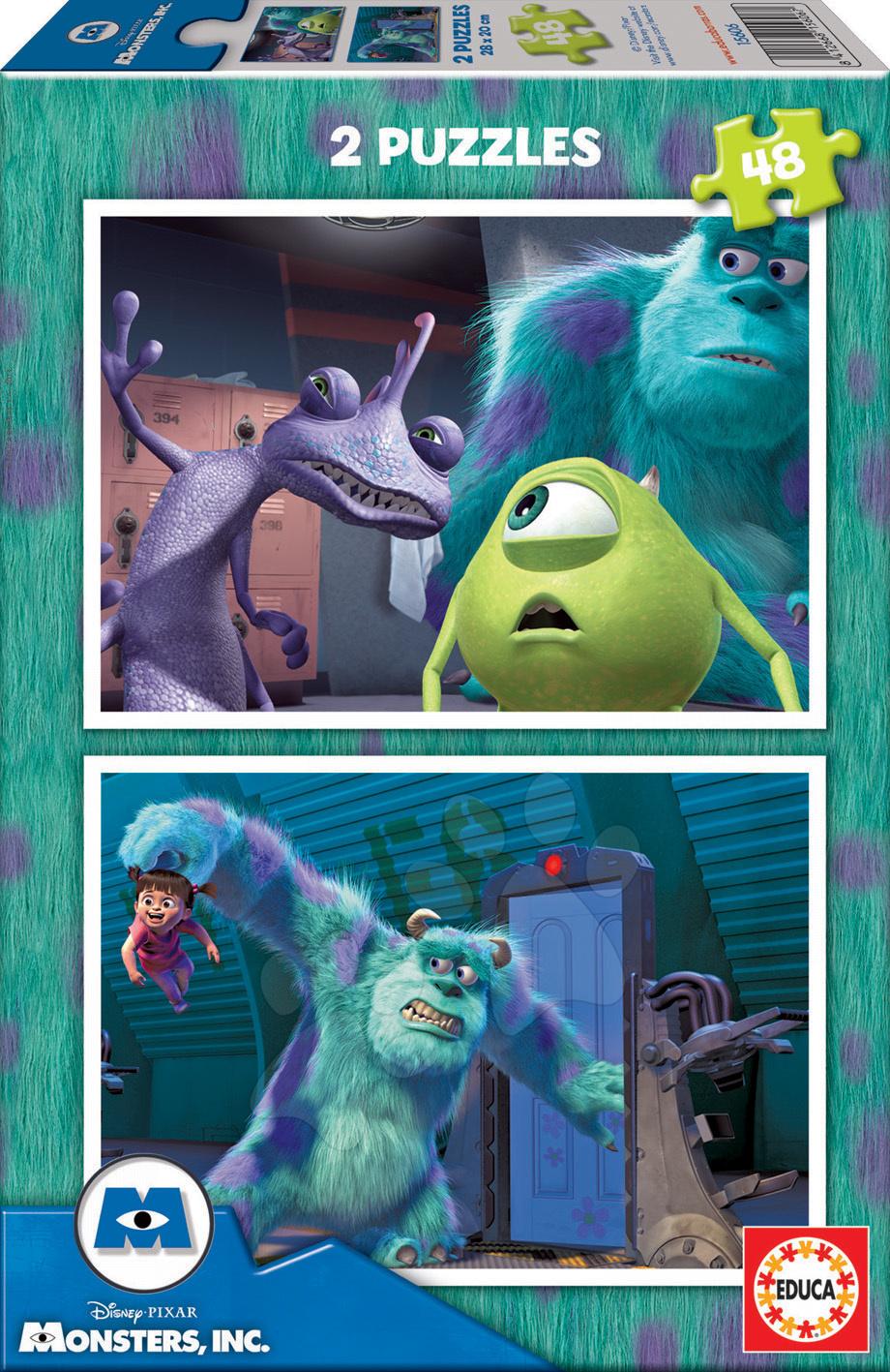 Puzzle Disney Příšerky s. r. o. Educa 2x48 dílků od 5 let