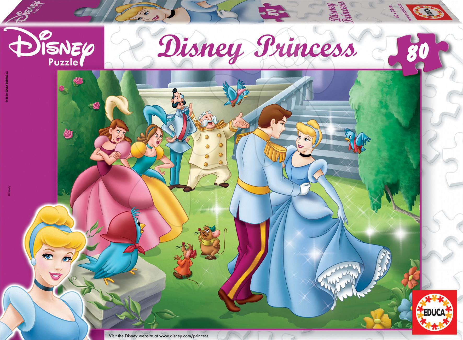 Gyerek puzzle 8 - 99 darabos - Puzzle Disney Hamupipőke Educa 80 db 5 évtől
