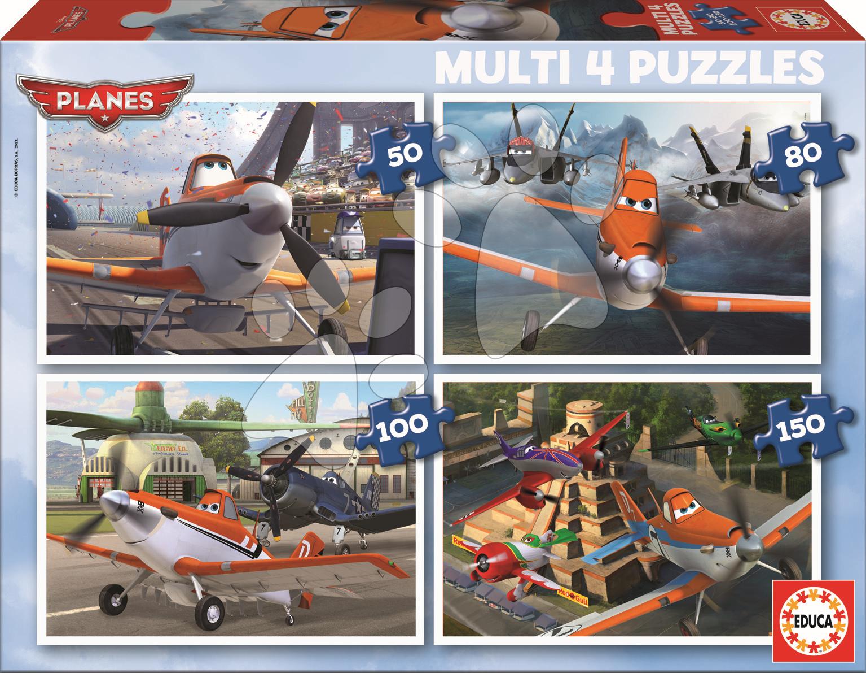 Puzzle Letadla Educa 150-100-80-50 dílů od 5 let