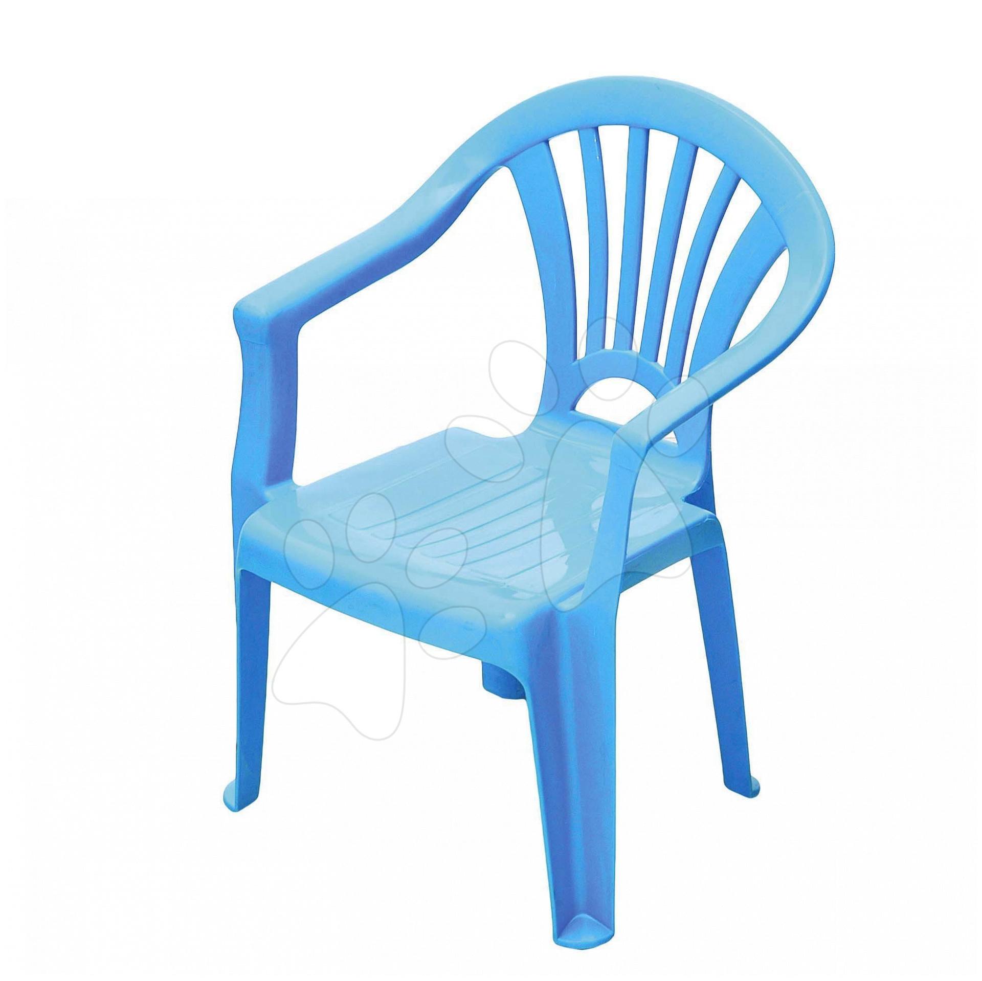 Detský záhradný nábytok - Stolička Starplast s opierkou modrá