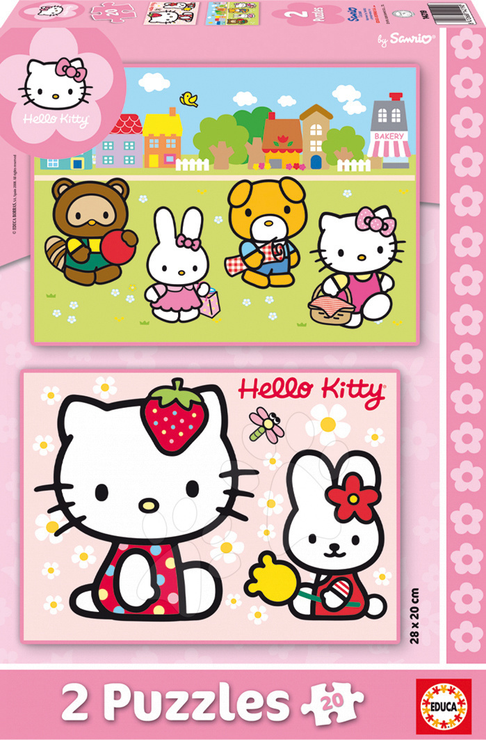 Gyerek puzzle 8 - 99 darabos - Puzzle Hello Kitty Educa 2x 20 db