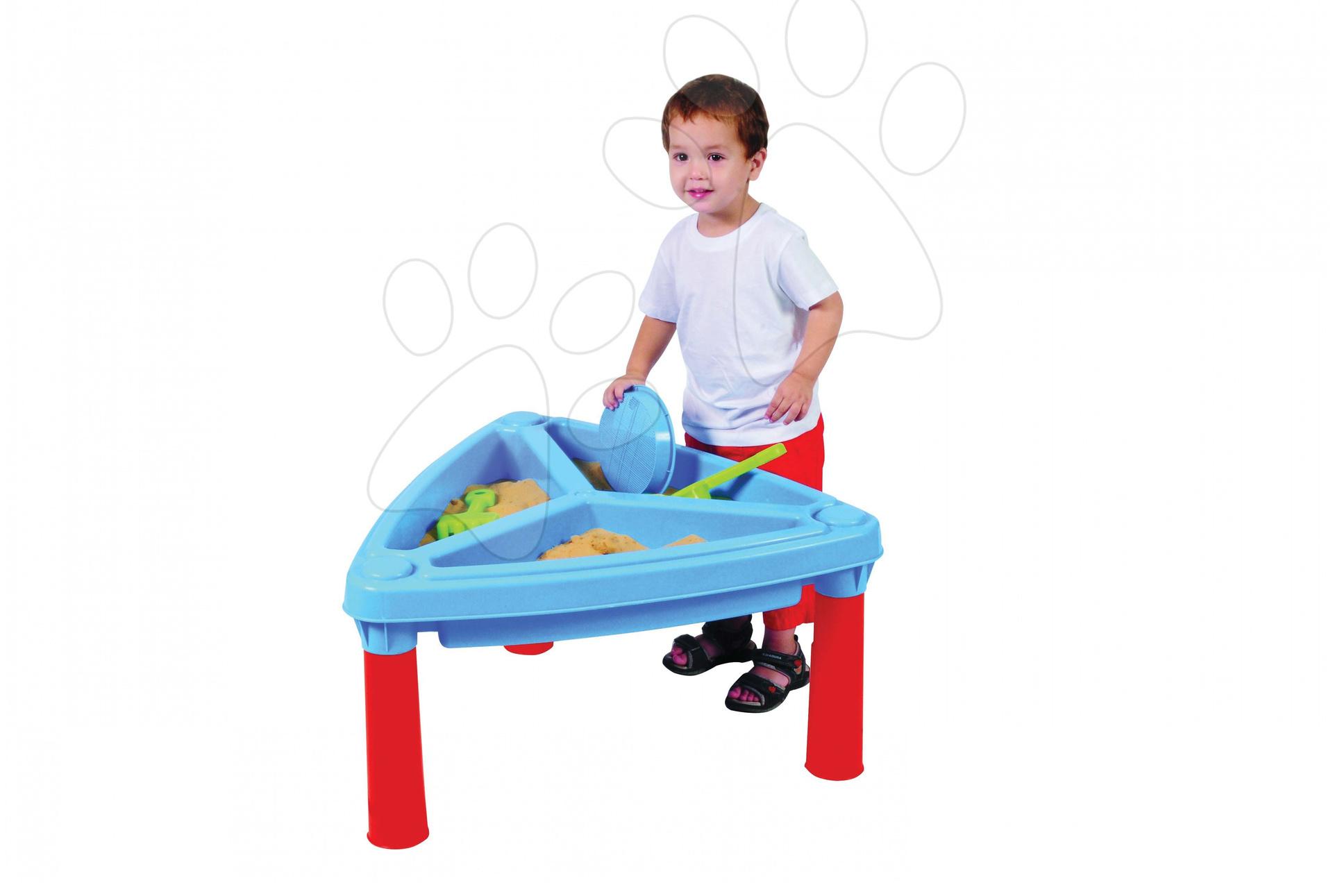Detský záhradný nábytok - Stôl na hranie Starplast s pieskom a s vodou trojkomorový s krytom
