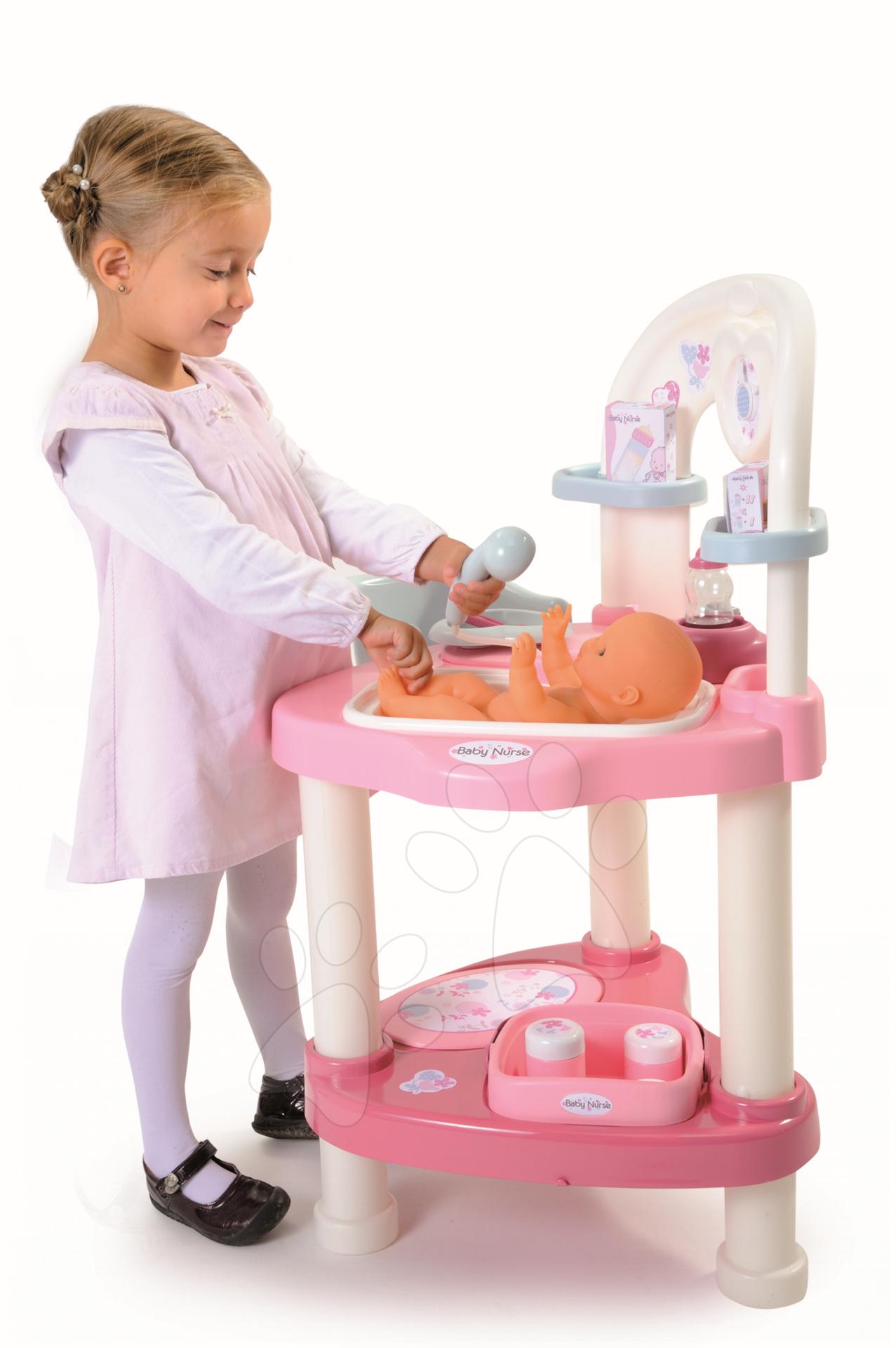 Babakocsi játékbabának és pelenkázó asztal Smoby 24f5aa87dd