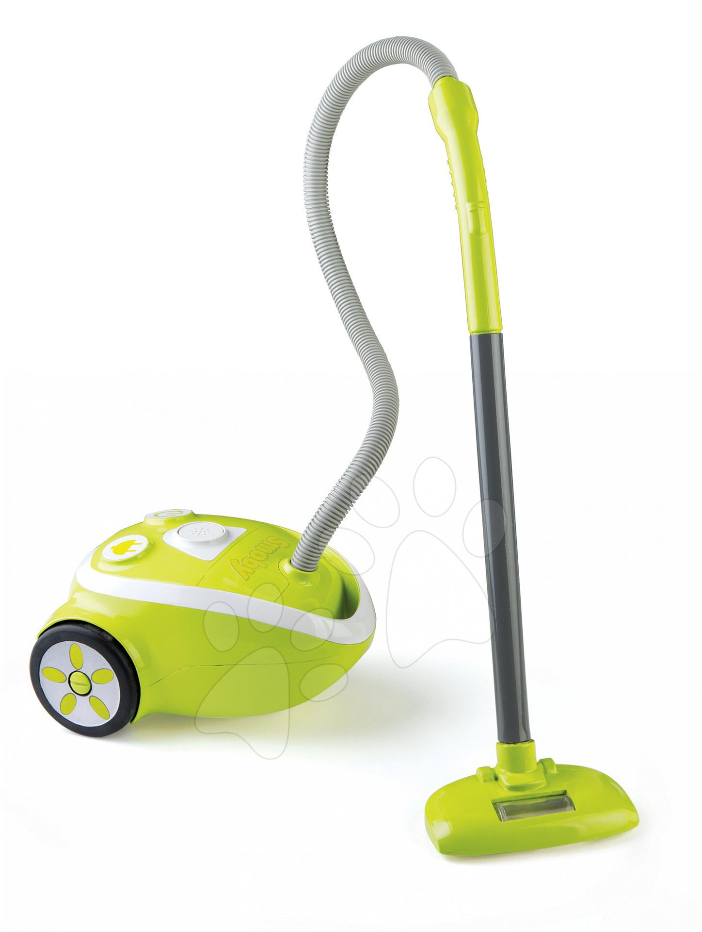 Dětský vysavač Clean Smoby elektronický zelený