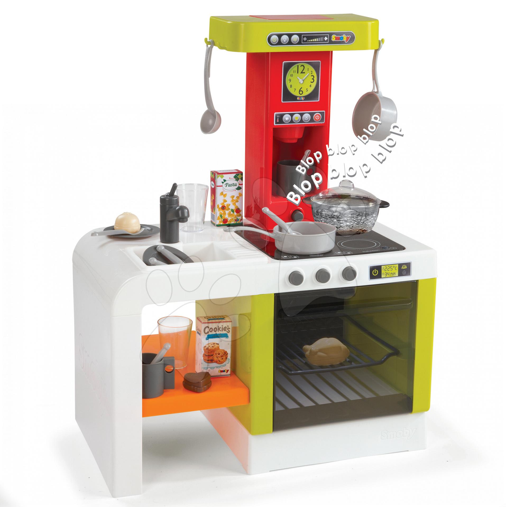 Kuchyňka TEFAL MAGIC BUBBLE Chefronic elektronická Smoby zelená s magickým bubláním se světlem a zvuky, 21 doplňků