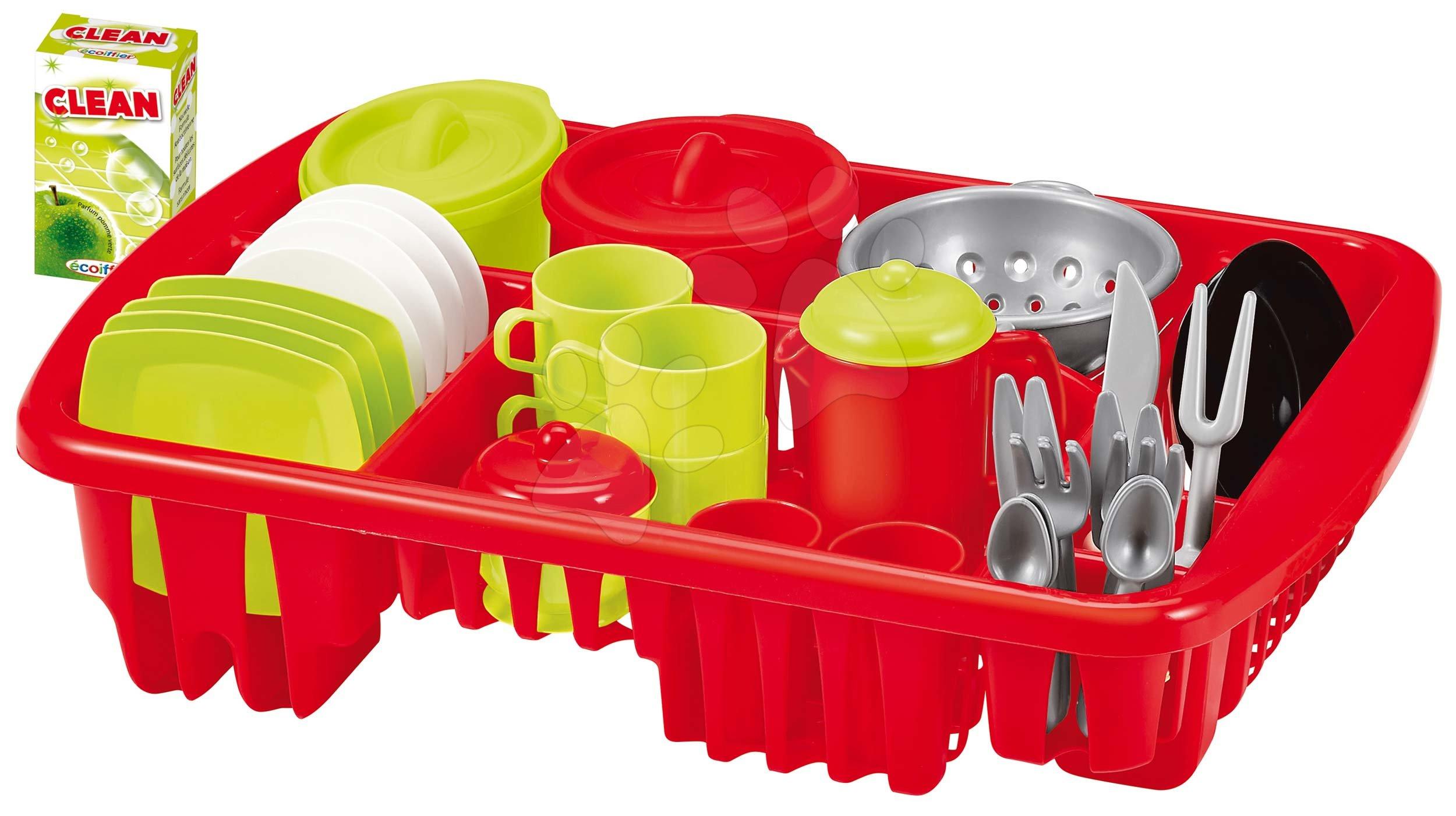 Sušička nádobí do kuchyně Big Dish Drainer Écoiffier s doplňky 42 dílů od 18 měsíců