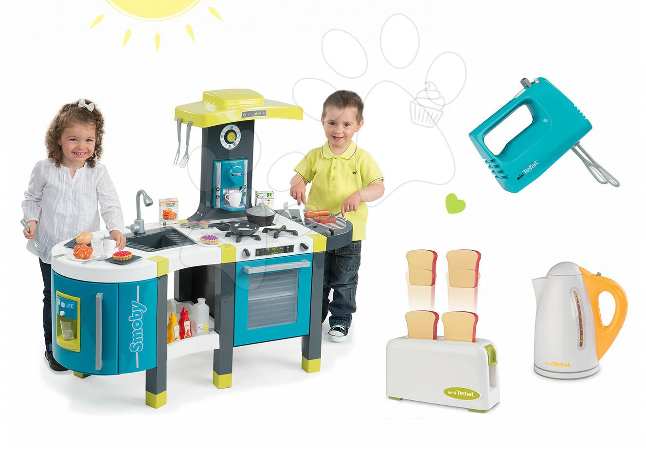 Set kuchyňka pro děti Tefal French Touch Smoby s ledem a kávovarem a 3 kuchyňské spotřebiče Tefal