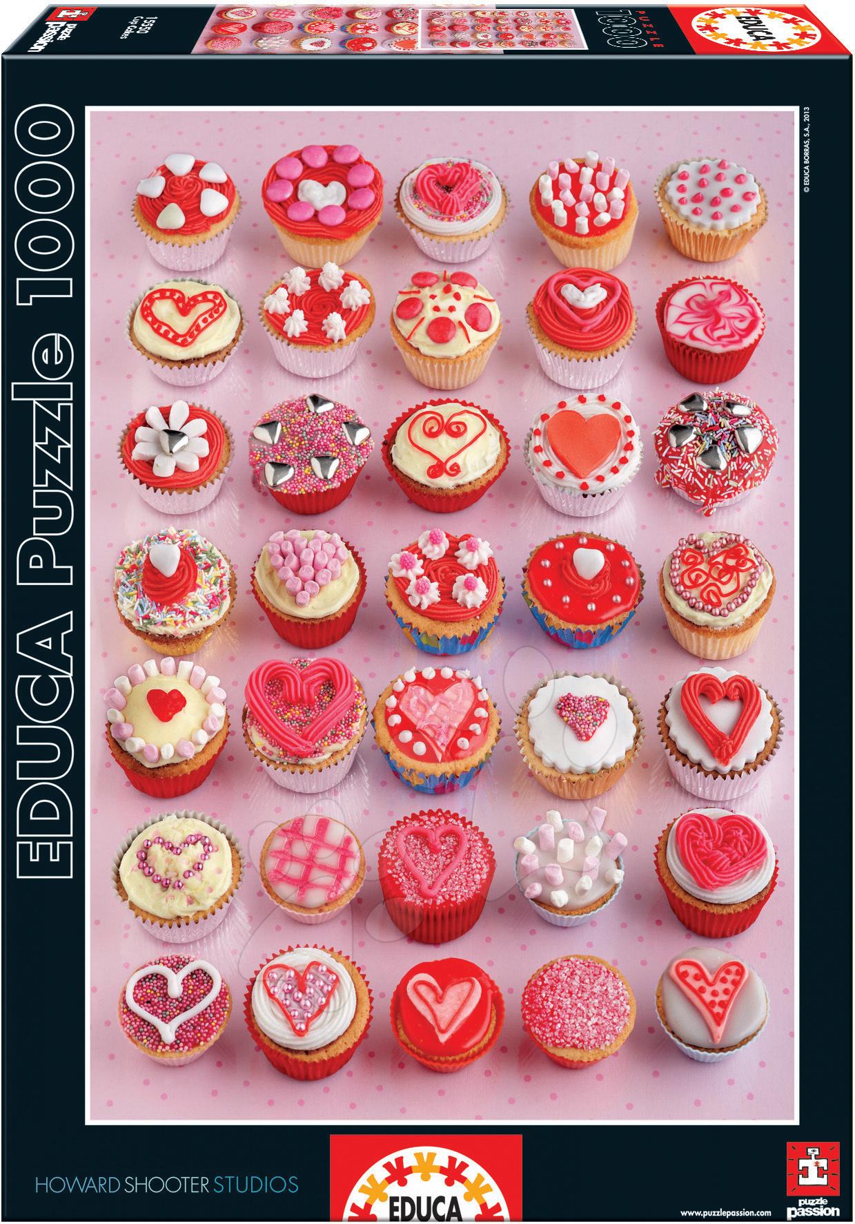 Puzzle Cupcakes Educa 1000 dielov od 12 rokov