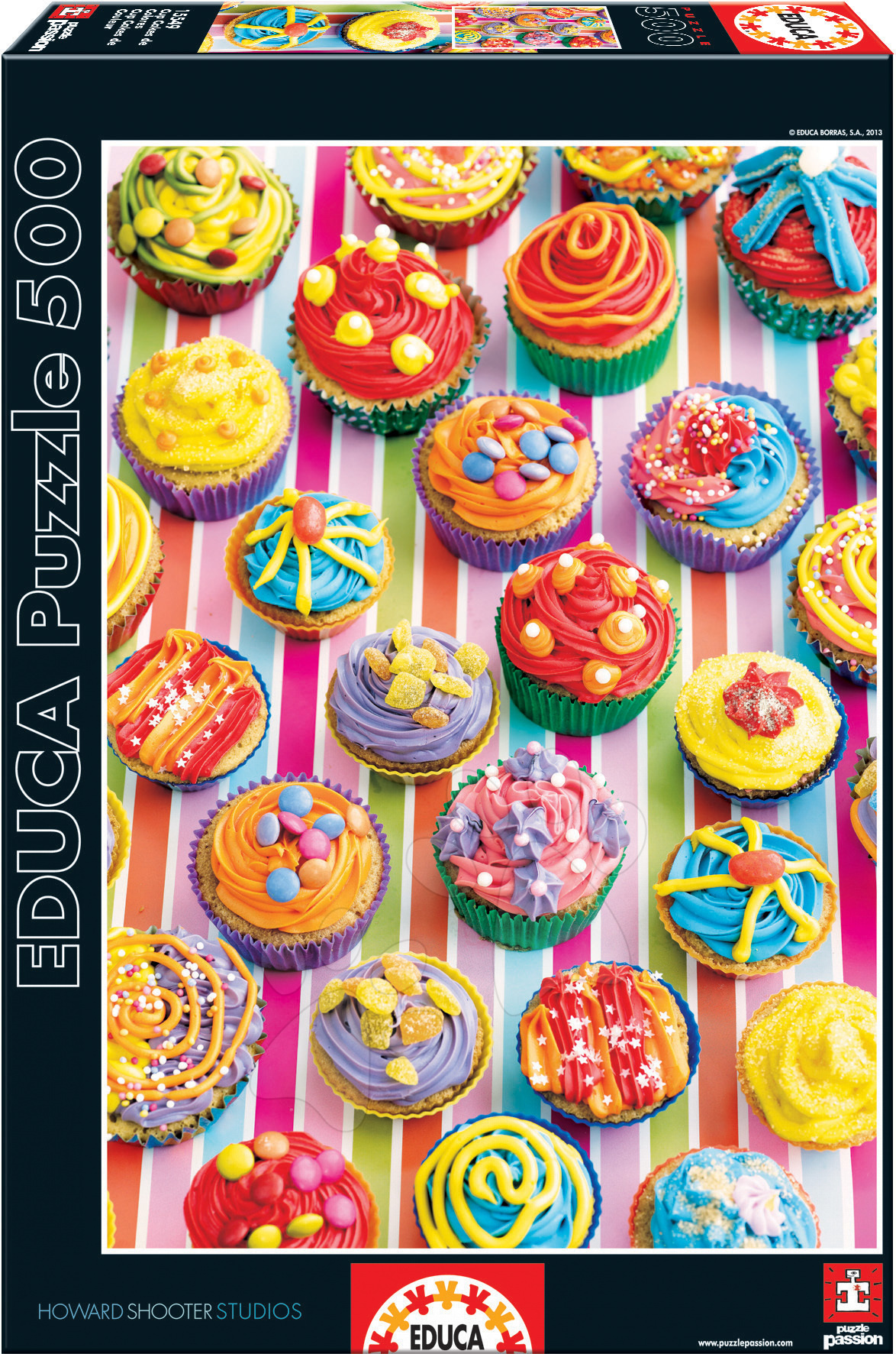 Puzzle 500 dielne - Puzzle Farebné koláčiky Educa 500 dielov od 11 rokov