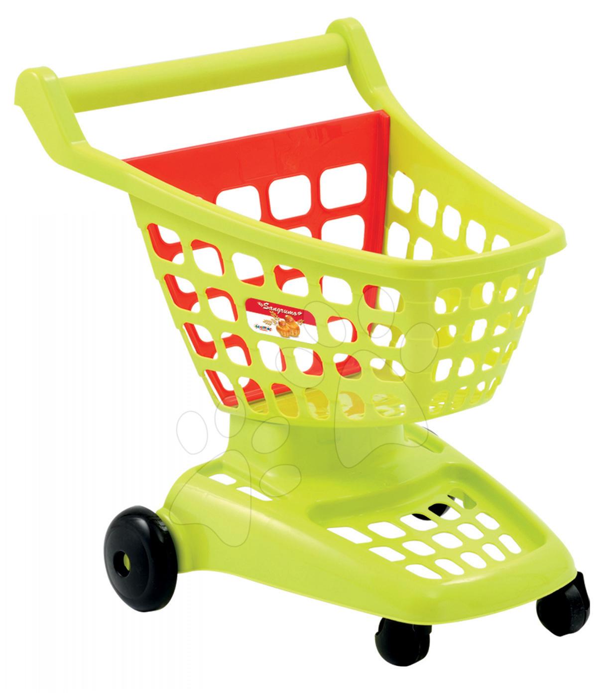 Obchody pre deti - Nákupný vozík 100% Chef Écoiffier s otvárateľnou stenou zelený/červený od 18 mes