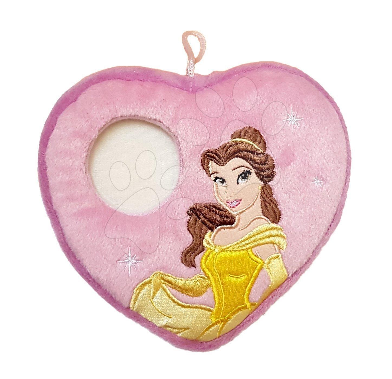 Polštářek Princezna Belle srdíčko s místem na fotku Ilanit 16*16 cm