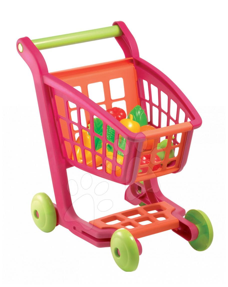 Obchody pro děti - Nákupní vozík Bubble Cook Écoiffier s 13 doplňky od 18 měsíců
