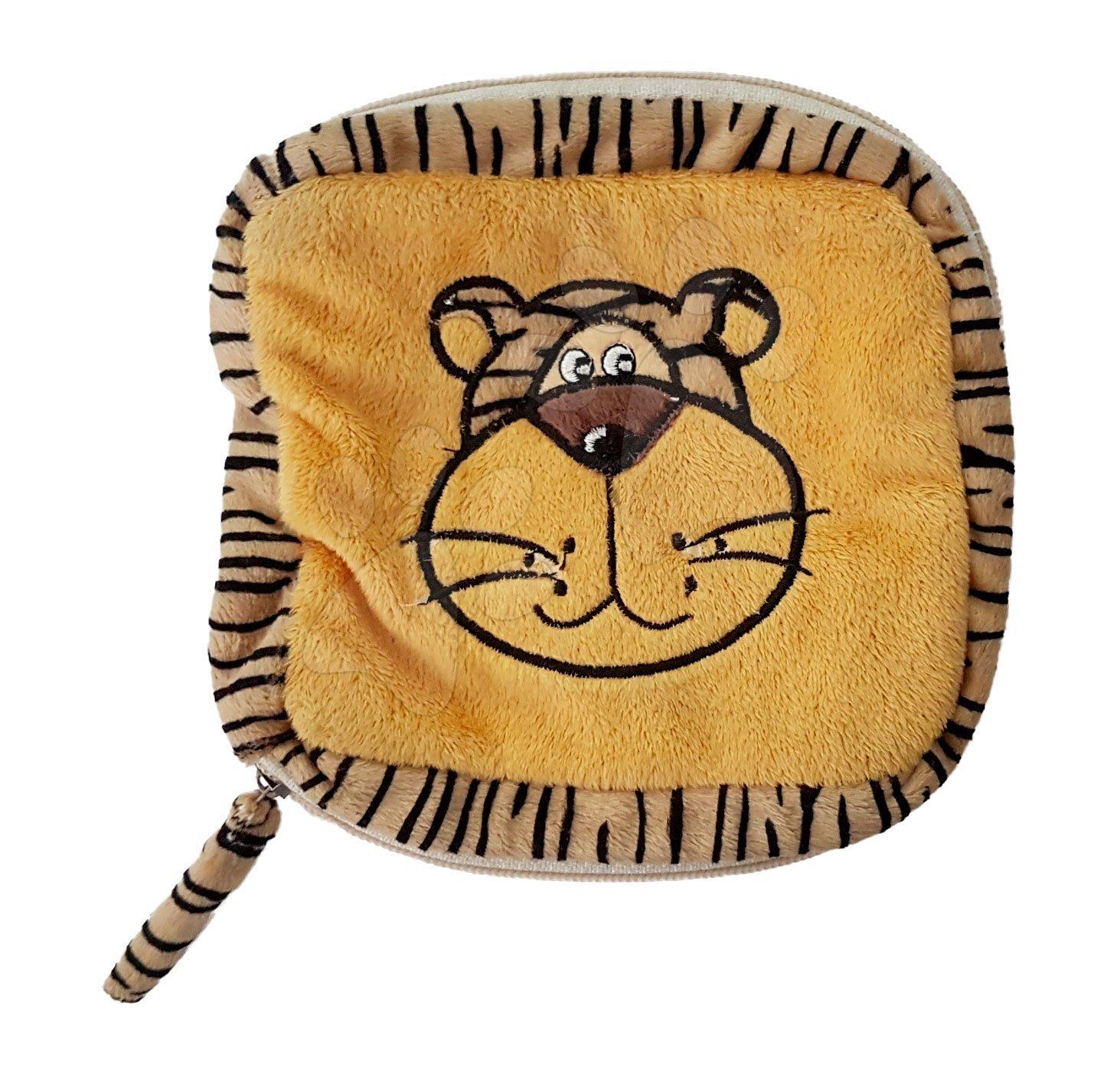 Plyšová taštička tygr Ilanit 16*16 cm