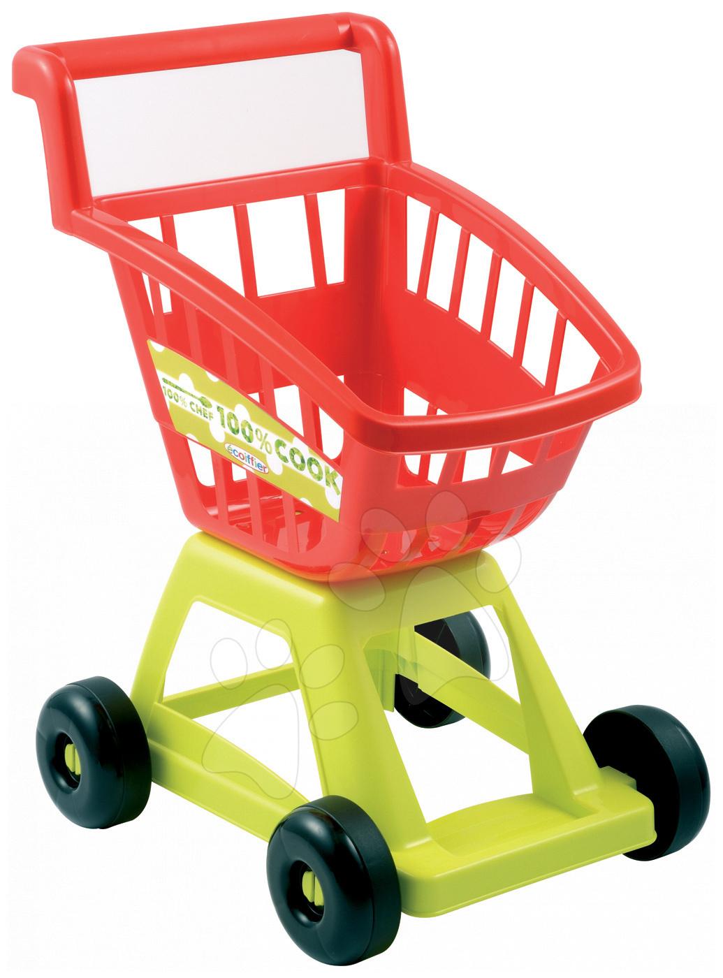 Obchody pre deti - Nákupný vozík 100 % Chef Écoiffier od 18 mes