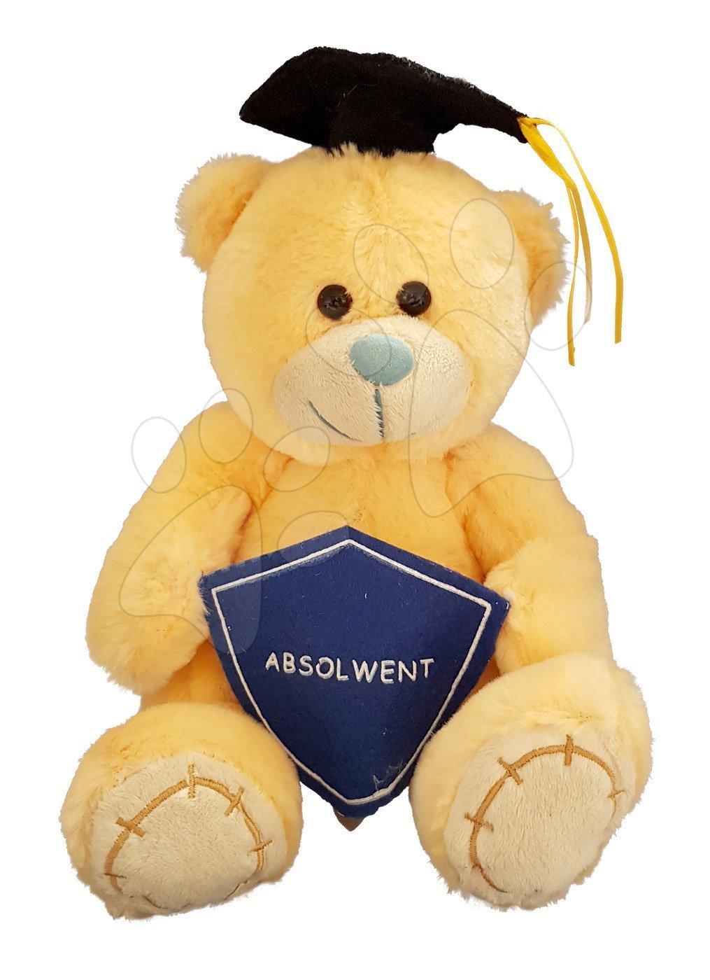 Plyšový medvídek Ilanit žlutý 24 cm
